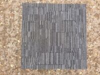 Carpet Tiles Grey Double Insulated Heavy Duty Used
