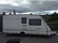 Sterling Europa caravan, awning, shower room, loads of accessories, very good condition and ready