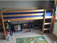 Mid sleeper pine single bed