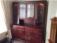 Mahogany display unit for sale in excellent condition ONLY £50