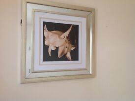 Gold framed pictures set of 3