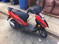 Honda sfx 50xx moped starts fine and goes well when warned up restrected to 30mph ideal run about ,,