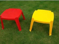 Kids plastic tables for indoors or outdoors