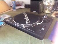 Pair of technics 1210's mk2. With numark mixer and Stanton cartridges