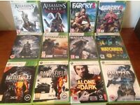 X Box 360 Action War Games includes watchdogs/assassins/Farcry