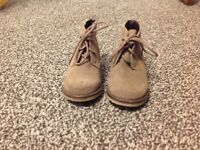 Child's brown suede boots