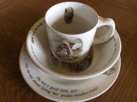 Wedgewood Mrs Tiggy-Winkle Mug, Plate and Bowl