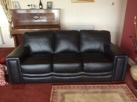 Beautiful leather suite three plus two seater as new rarely used