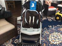 Mothercare pram system & wicker crib