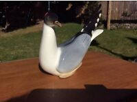 Lomonosov USSR Black Headed Gull porcelain figure