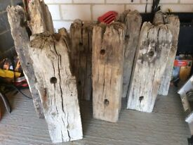 Oak groyne salvaged from Chichester sea defences