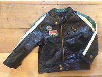 Boy jacket, faux leather 12-18 months