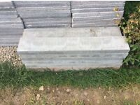 13 kerb stones / edging stones grey colour new