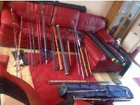 Fishing rods job lot