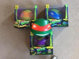Teenage Mutant Ninja Turtles, Set of 4, 3D Night Lights, Wall Mounted Deco Lights