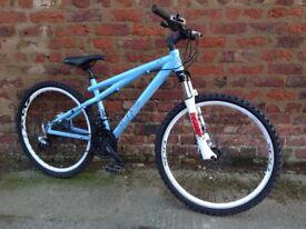Gt chucker hardtail mountain bike, ready to ride away