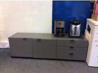 Excellent condition Dark Grey Cabinet & Drawers