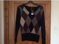 Black patterned jumper