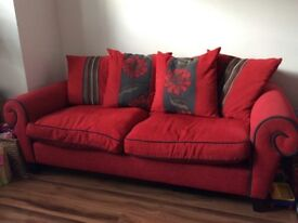 3 seater sofa and matching 2 seater sofa bed