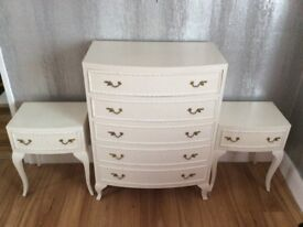 Drawers and 2 bedsides