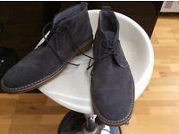 Men's grey suede desert boots by Kurt Geiger size 11