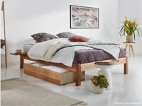 Double bed wooden bed frame- Brand new Natural Pine- see photos