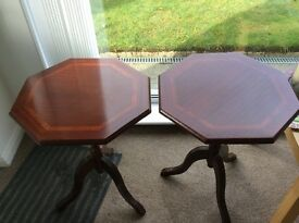 Pair of side/lame tables