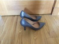 Dune silver court shoes