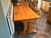 Oak Table With 4 Wooden Chairs