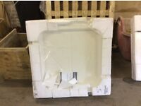 760mm X 760mm stone white square shower tray