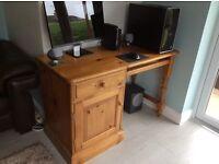 Pine computer work desk
