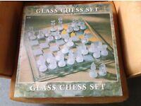 Glass chess set (unused)