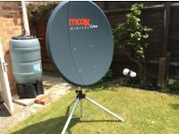 Portable Satellite dish. 100cm with tripod.