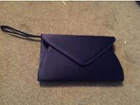 Navy clutch bag and shoes