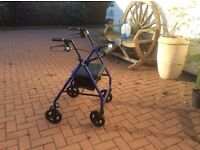 Fold up Wheelchair good condition barely used. Nice and clean.plus walker.in VGC.