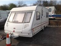 Sterling Eccles Onyx 4 Berth touring caravan fixed end bed and awning
