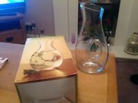 Clear glass wine/water carafe