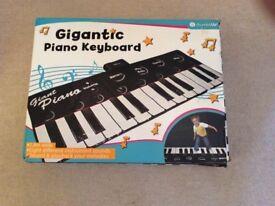 Gigantic piano keyboard