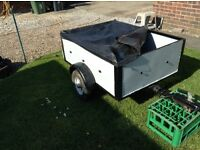 METAL CAR TRAILER. MAKE OFFER