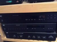 Tuner, amp and CD player separate system plus mission speakers