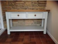 Console table painted shabby chic