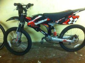 "Boys Motobike - fully refurbished 20"" Games Motobike - 20"" wheels, full suspension, single-speed"
