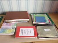 Huge job lot of paper various sizes perfect for crafting