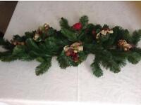 3ft Christmas garland, table/sideboard centre piece
