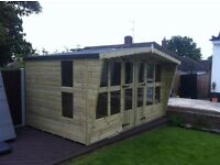 12x8 tanalized timber,t&g summer house