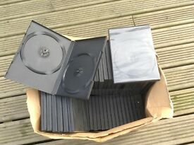 FREE 83 double DVDs cases new pick up in Ludham FREE