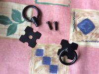Black handles for pine furniture