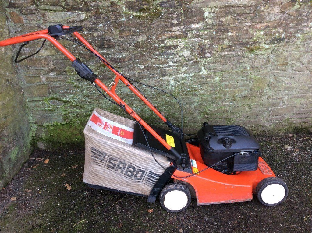 sabo self propelled rotary petrol lawn mower in plymouth. Black Bedroom Furniture Sets. Home Design Ideas