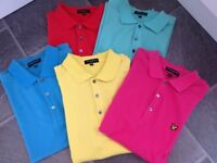 Boys/Gents Lyle & Scott Short sleeve Polo Shirts - Size Medium