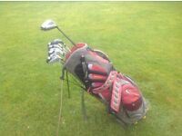 NIKE CARRY BAG WILSON CAVITY BACK IRONS RESCUE CLUB 3WOOD TAYLORMADE DRIVER PUTTER